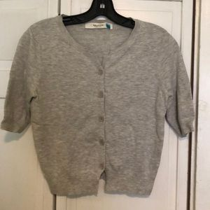 Anthropologie Sparrow Cropped Gray Cardigan